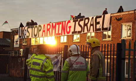 Londres Acção Palestina protestar contra uma fábrica de armas em Shenstone, Staffordshire