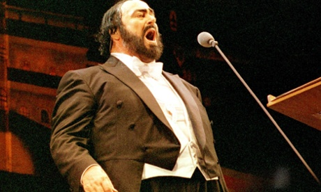 Italian tenor Luciano Pavarotti in song: studio masters can reveal his separation from the orchestra in recording.