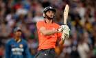 Alex Hales hits out in the T20 match between England and Sri Lanka at The Oval in May.