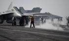 aircraft carrier USS George HW Bush us air strikes iraq