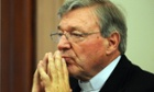 Catholic Archdiocese of Sydney Cardinal George Pell appears at the Victorian Government inquiry into child abuse