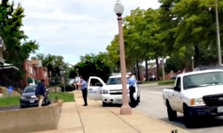 Police release video of Kajieme Powell fatal shooting in St Louis.