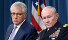 US Secretary of Defense Chuck Hagel and Chairman of the Joint Chiefs of Staff, General Martin Dempsey.