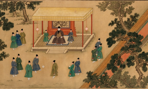 'A kind of mini Olympiad': detail from Amusements in the Xuande Emperor's Palace, 1426-35.