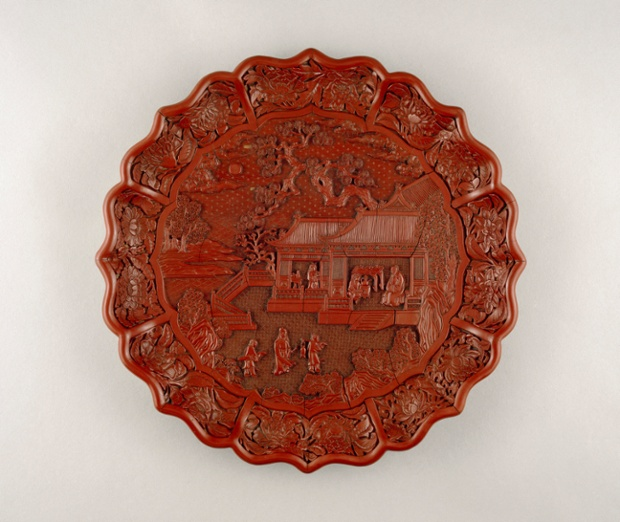 Carved red lacquer on wood core, Yongle mark and period 1403-24, South China.