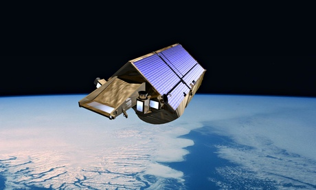 An artist's impression of CryoSat-2,  the European satellite which has revealed dramatic ice loss.