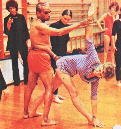 BKS Iyengar and Silvia Prescott