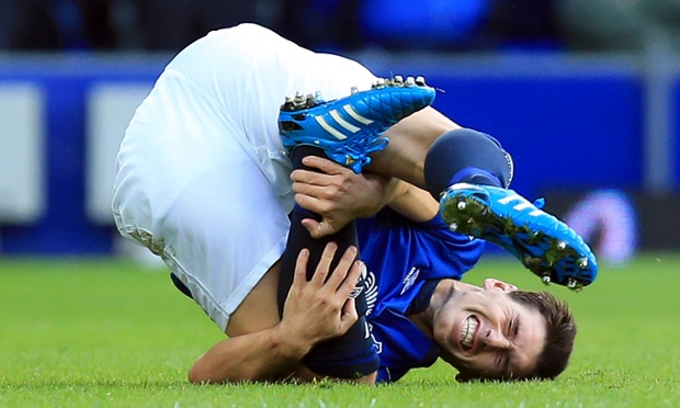 Everton's Gareth Barry find's the match equally competitive.
