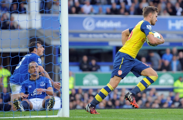 Aaron Ramsey scores to begin Arsenal's fightback but want's to do more.