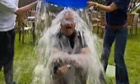 Alex Salmond is soaked during his ice bucket challenge