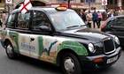 London taxi flying the St George's cross flag: 'An English parliament would be disastrous for the no