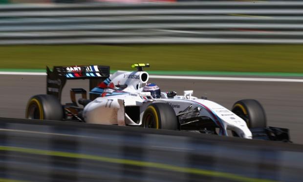 Flying Finnish driver, Valtteri Bottas, in his Williams.