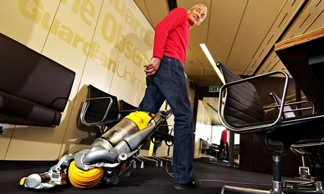 Inventor James Dyson with one of his vacuum cleaners: his company is seeking judicial review of the