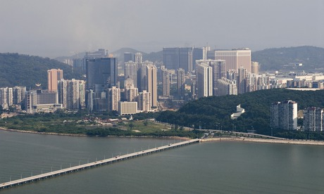 A view over Taipa, the lesser of Macau's two islands and home to many of the city's 33 casinos.