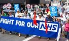 Thousands march in London against cuts