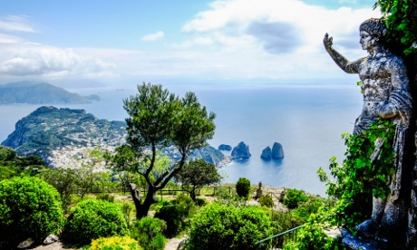 View from Monte Solaro, Capri.