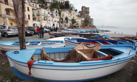 Cetara harbour.