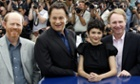 Howard, Hanks, Audrey Tautou and Dan Brown at the film's photocall at Cannes in 2006.