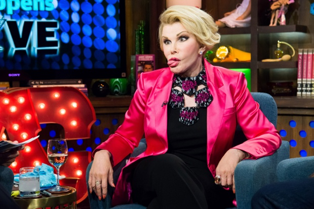 Joan Rivers Hamming it up on Watch What Happens Live  4/16/14|