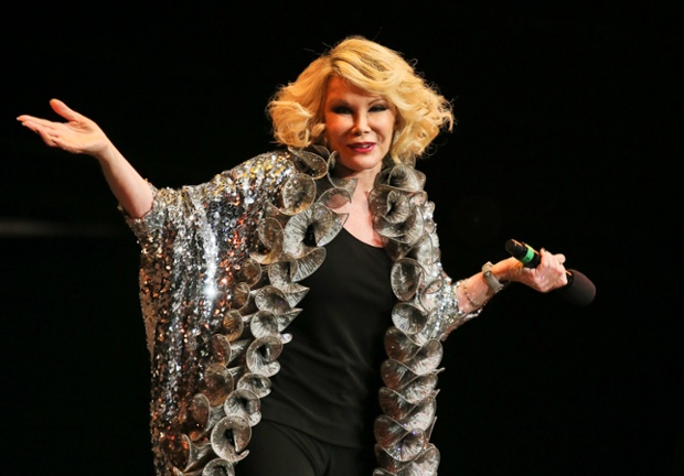 Joan Rivers performs on stage as part of the The Prince's Trust comedy gala We Are Most Amused at Royal Albert Hall on November 28, 2012 in London, England.