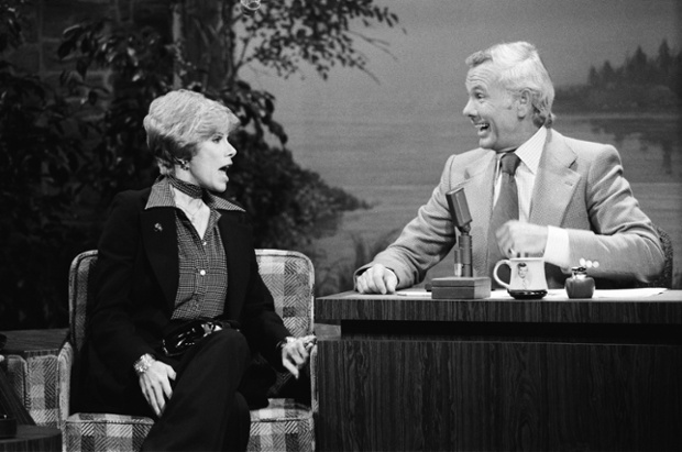 Where it all started - Comedian Joan Rivers,with The Tonight Show host Johnny Carson 1976 --