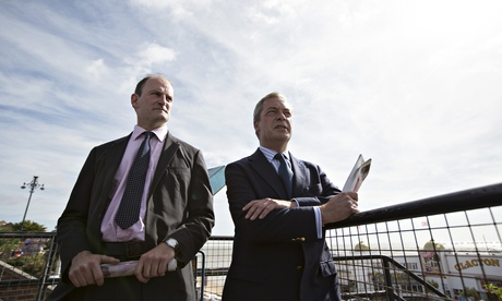 UKIP Leader Nigel Farage and Douglas Carswell Visit Clacton On Sea