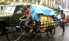A cycle rickshaw in Calcutta, India