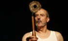 Ubu and the Truth Commission Handspring Puppet Company Dawid Minnaar (Pa Ubu): man in white undershirt and underpants.