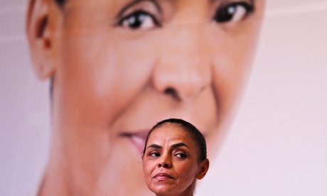 Marina Silva at the launch of her election campaign programme on Friday.