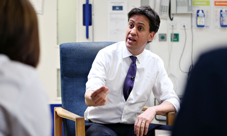Ed Miliband at a hospital