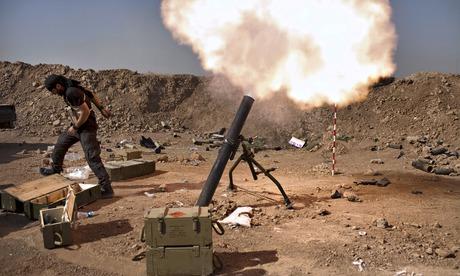 Iraqi militia mortar fire