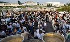 Pakistani protesters food