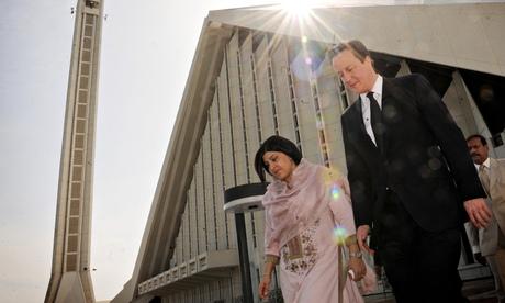 Prime minister David Cameron and Lady Warsi