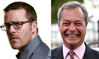 Frankie Boyle and Nigel Farage composite