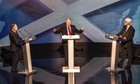 Alex Salmond (left) and Alistair Darling (right) debate