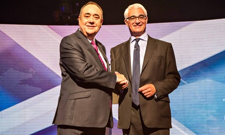 Scottish politicians clash in TV debate over independence
