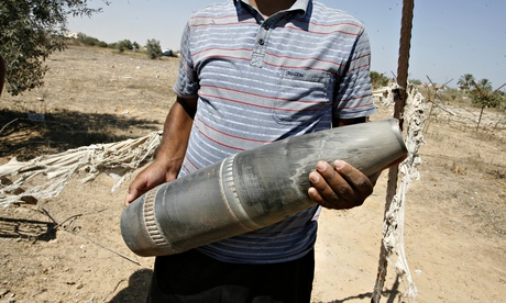 gaza projectile