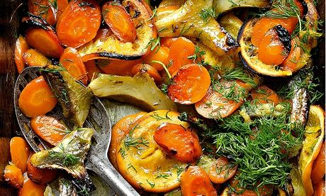 Yotam Ottolenghi's braised carrot and artichoke with orange and dill ...
