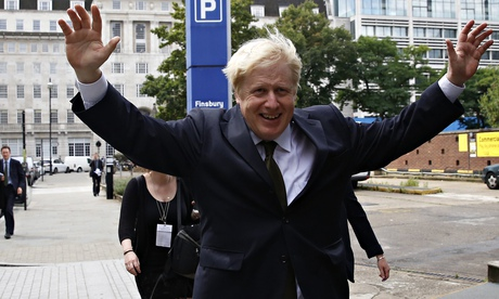 Boris Johnson after announcing his intention to run for parliament next year