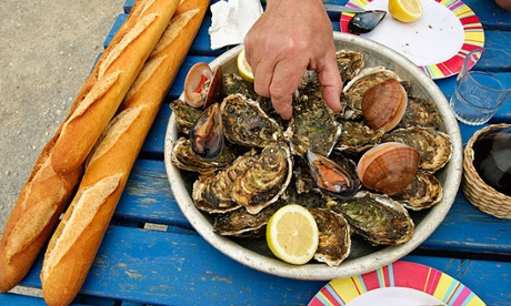 A seafood lunch in Gruissan, France