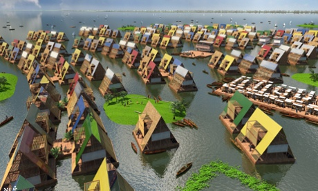 Adeyemi's vision for a floating city of low-cost