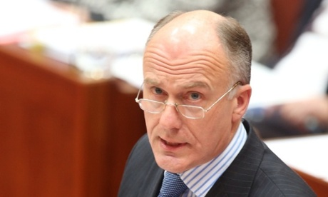 The Leader of the Government in the Senate Eric Abetz during question time.