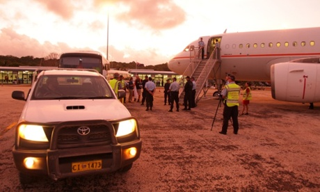 Asylum seekers leaving Christmas Island for Nauru