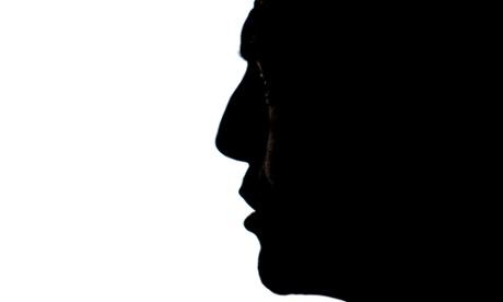 Tony Abbott in silhouette