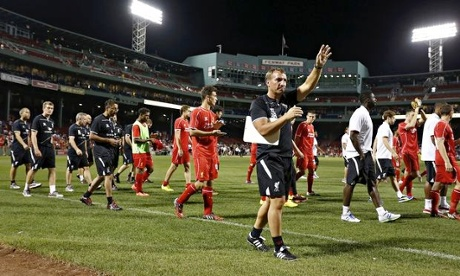 Liverpool manager Brendan Rodgers at Fenway