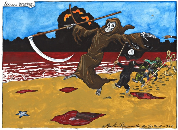 Sooooo bracing... Martin Rowson cartoon on the Middle East