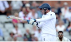 Stuart Broad suffered a nose injury after a delivery squeezed over the helmet grille