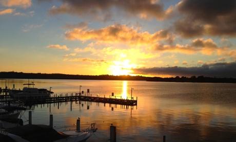 Gippsland lakes sunrise at Metung.