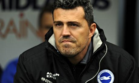 Oscar García, then manager of Brighton