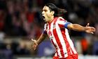 Radamel Falcao celebrates a goal for Atlético Madrid